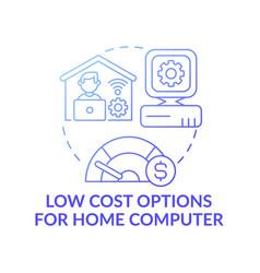 Low cost options for home computer dark gradient vector