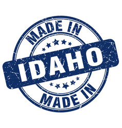 Made in idaho blue grunge round stamp vector