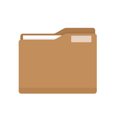 Manila folder with document vector