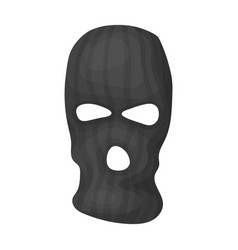 mask to close the face of the offender from vector image