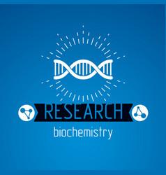 Model of human dna double helix bioengineering vector