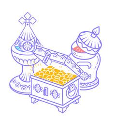 Myrrh and gold frankincense vector