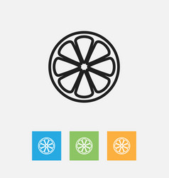 Of cookware symbol on lemon vector