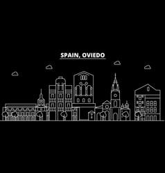 Oviedo silhouette skyline spain - oviedo vector