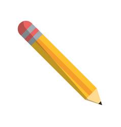 pencil school utensil item vector image