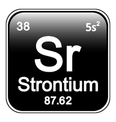 Periodic table element strontium icon vector image