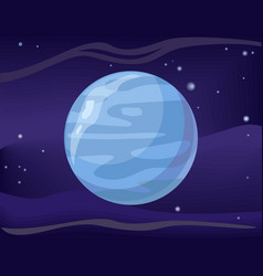 planet neptune in space background vector image