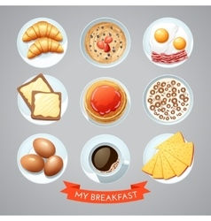 Poster With Breakfast Set vector