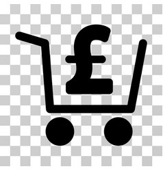 Pound checkout icon vector