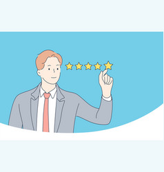 rating estimation certification concept vector image