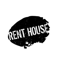 Rent house rubber stamp vector