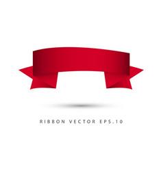ribbon set template design vector image