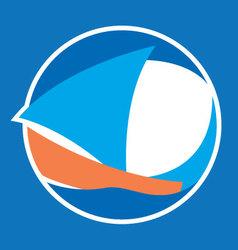 Sailing logo vector