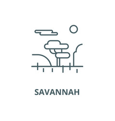 savannah line icon linear concept outline vector image