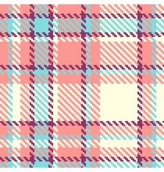 Seamless plaid fabric vector image