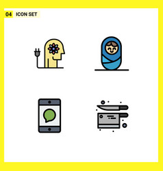 Set 4 modern ui icons symbols signs for vector