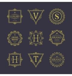 set badges old school vintage banners vector image