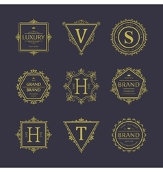 Set of badges Old school Vintage banners vector