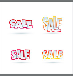 set of sale banner template design special offer vector image