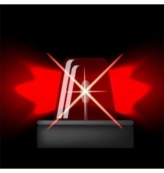 Siren Icon Red Emergency Flash Car Alarm Symbol vector