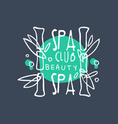 Spa club beauty logo badge for wellness yoga vector