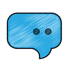 Speech bubble isolated icon vector