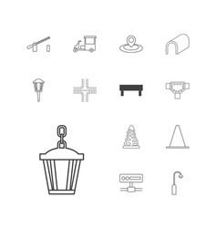Street icons vector