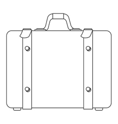 suitcase with handle icon vector image