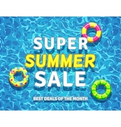 Summer sale background with swimming pool vector