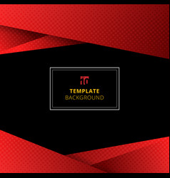 template red geometric background with halftone vector image