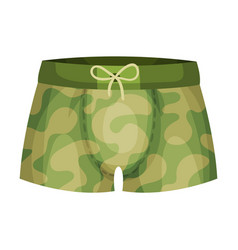 Tight male elastic swimming trunks isolated on vector