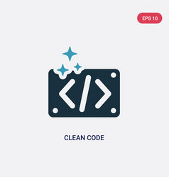 Two color clean code icon from programming vector