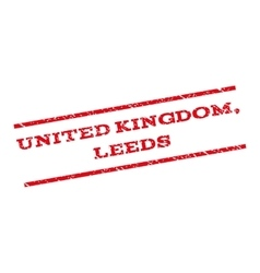 United Kingdom Leeds Watermark Stamp vector