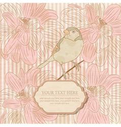 Vintage card with a bird vector image
