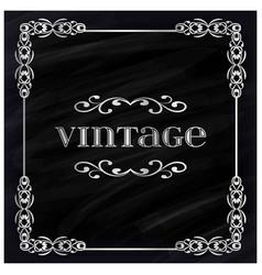 vintage poster sample text on black vintage vector image