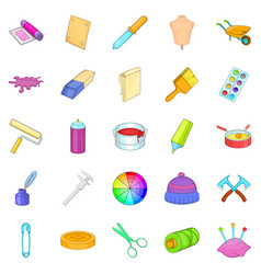 Wallpaper icons set cartoon style vector