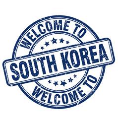 Welcome to south korea vector