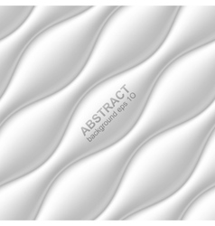 White seamless wavy background vector image