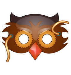 bird beak mask on face in cartoon style vector image