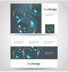 Blue Modern Business-Card Set EPS10 Design vector image vector image