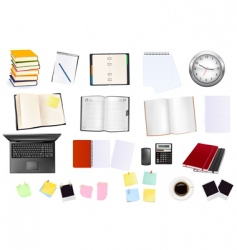 collection of business elements vector image vector image