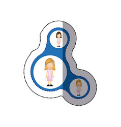 color women connection her daughters icon vector image