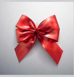 red bow and ribbons vector image
