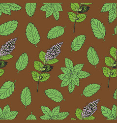 tea pattern 2 vector image vector image