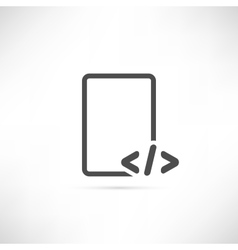 Text Code Icon vector image