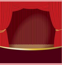 theater stage curtain template vector image