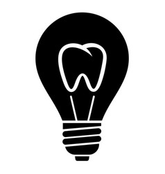 tooth icon simple style vector image
