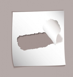 torn paper background vector image vector image