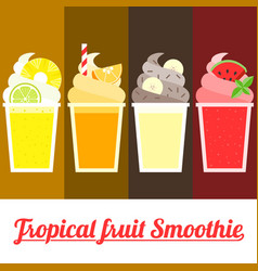 tropical smoothie vector image vector image
