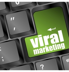 viral marketing word on computer keyboard vector image vector image